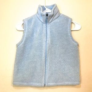 Gap Kids Sherpa Vest Light Blue Medium Zip Up